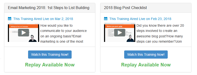 A Wealthy Affiliate Review 2018-Live Training Replay