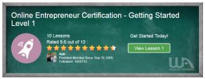 A Wealthy Affiliate Review 2018-Online Entrepreneur Certification