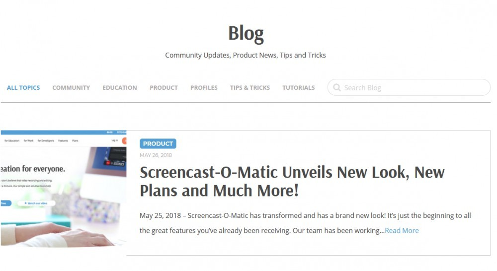 Screencast o matic review_training and support