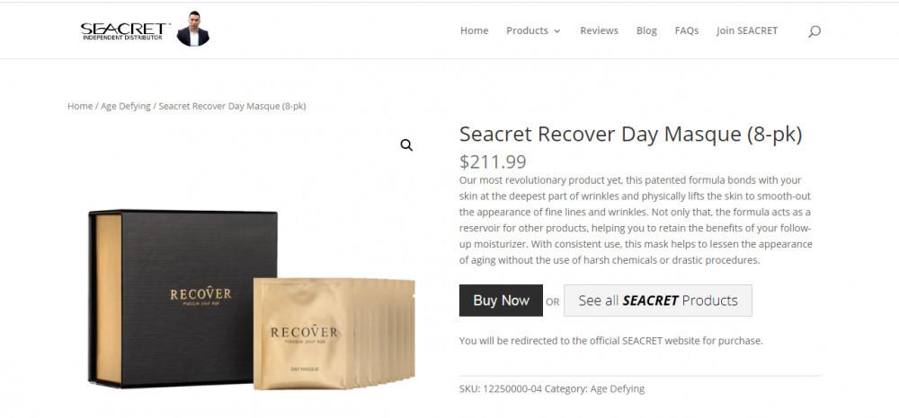 What is Seacret Direct - Recover - Seacret