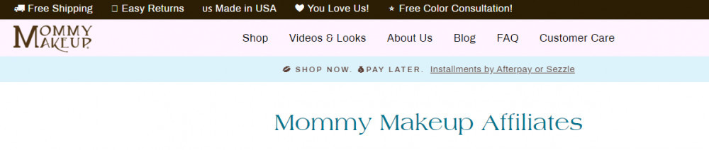 Affiliate Programs For Beauty Products- Mommy Makeup