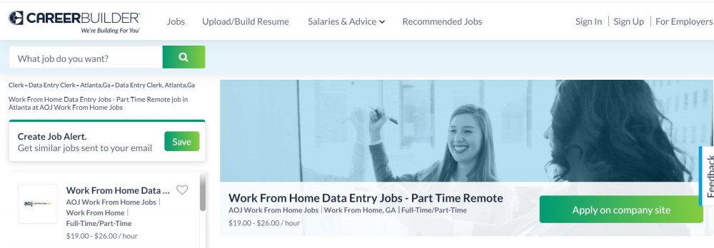 AOJ Work From Home Jobs Review - Sample Ad