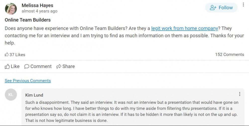 Online Team Builders Review - Reviews